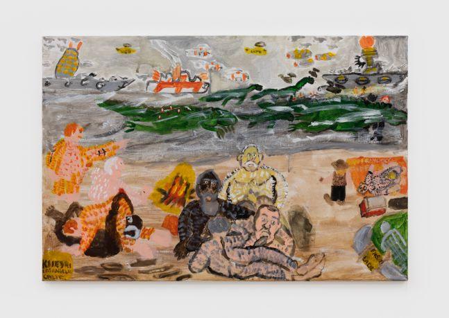 Raynes Birkbeck Beach Plus the Fleet, 2020 Oil and acrylic on canvas 24 x 36 in 61 x 91.4 cm (RBI20.018)