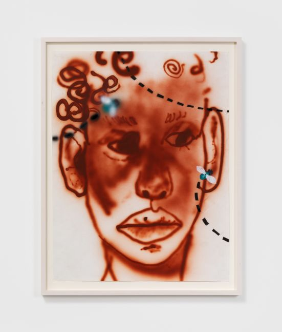 Brianna Rose Brooks Untitled, 2020 Airbrush and acrylic on Stonehenge paper 24 x 18 in 61 x 45.7 cm (BRO20.003)