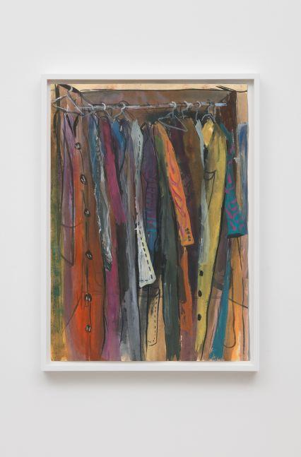 Tomasz Kowalski Untitled, 2012 Gouache, spray, acrylic and ink on paper, framed 16 1/2 x 11 3/4 in 42 x 30 cm (TKO19.013)