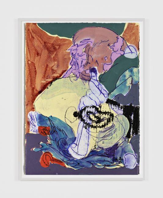 Antwan Horfee Grinchet Jones 5, 2021 Acrylic and chemical ink on paper 15 x 11 1/8 in 38 x 28 cm (HOR21.016)
