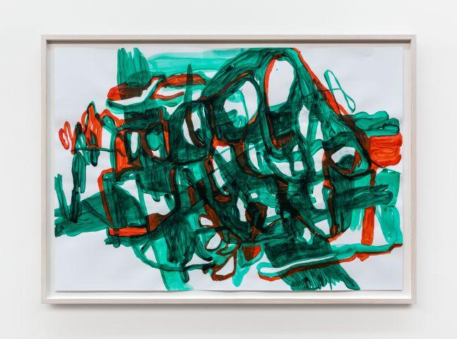 Jana Schröder B&T r/g 1, 2021 Acrylic on paper 27 1/2 x 39 3/8 in 70 x 100 cm (JSR21.001)