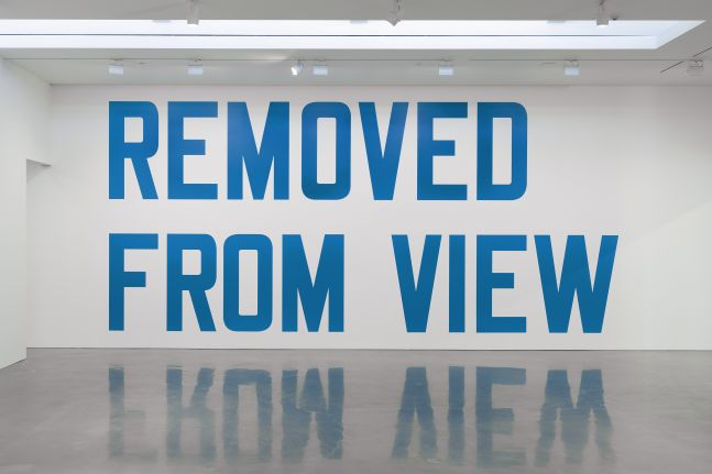 Lawrence Weiner - Removed from View