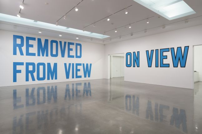 Lawrence Weiner On View