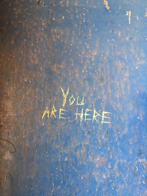 """You are here,"" Desert Center, California, 2007"