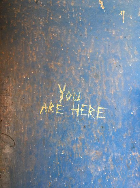 """""""You are here,"""" Desert Center, California, 2007"""