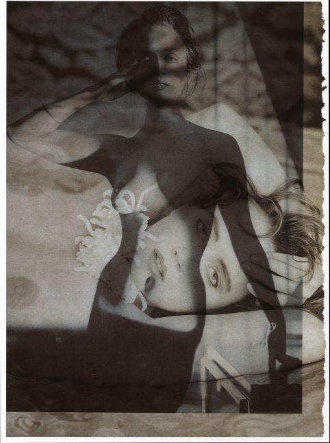 PP-Face-Figure-B, 1990  Dye bleach print from photogram  14 x 11 Inches
