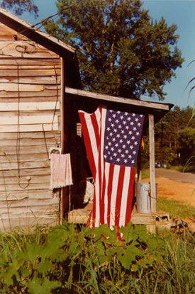 House with Flag, Greensboro, Alabama, 1977