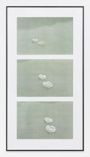 Helène Aylon  two sacs en route, Water colors - Green Glow, 1990