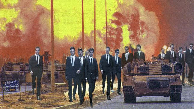"Martha Rosler  Invasion, from the series ""House Beautiful: Bringing the War Home, New Series"", 2008"