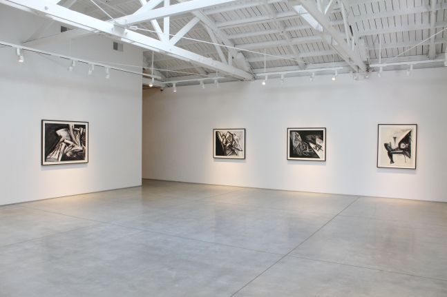 Jay DeFeo Paintings on Paper 1986 - 1987​, installation view