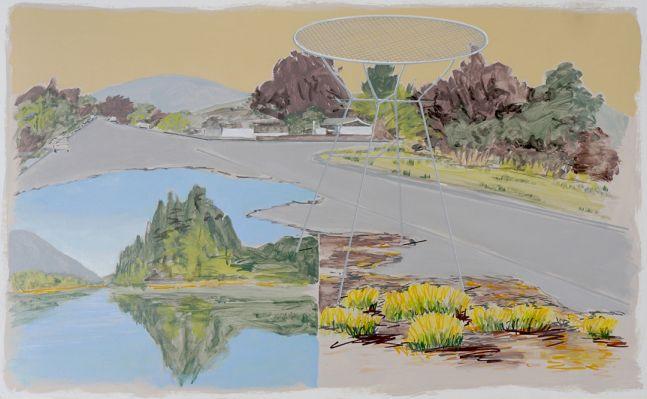 Island, Street, Table, Bushes, 2020