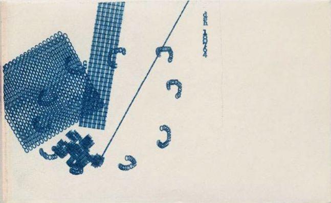 Dom Sylvestor Houedard   Typestract - 180764 (Blue), 1964