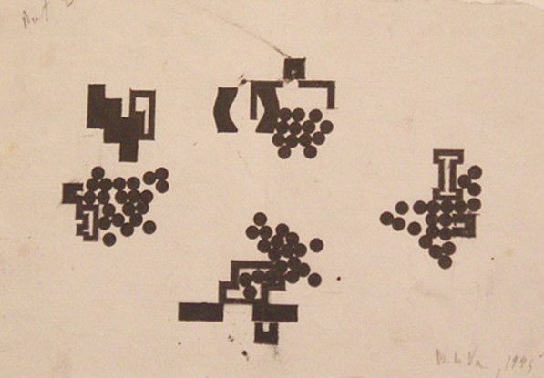 Elements Compressed by Pushing from Various Directions, 1995