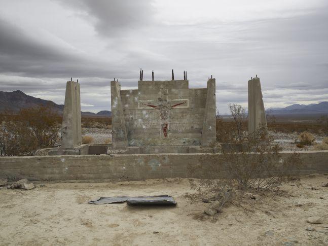 "Shotgun practice, ""he will return"", Nevada, 2009"