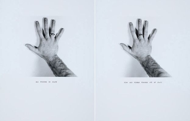 Ring and Middle Finger Out of Place, 1971-72/printed 2011