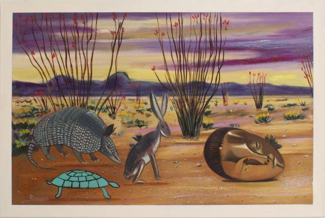 Raul Guerrero, Ocotillo in Bloom on the Desert, 2020