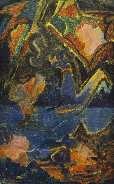 Untitled (Edge Crush 2), n.d.   Oil on cardboard 25 3/4 x 16 1/4 inches