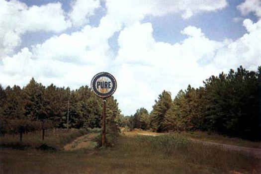 Pure Oil Sign in Landscape, near Marion, Alabama, 1977
