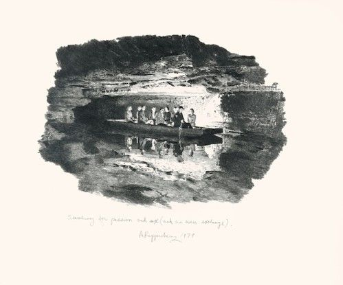 Searching for Passion and Sex (and an even exchange, people in boat in cave), 1979