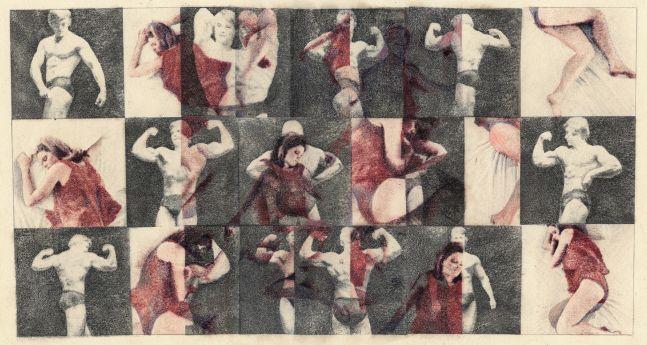 Sleeper/Muscle Man, 1967 Ink transfer 15 x 20