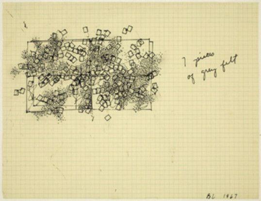 7 Pieces of Gray Felt, 1967