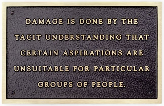 Jenny Holzer   Damage is done by the tacit understanding..., 1981