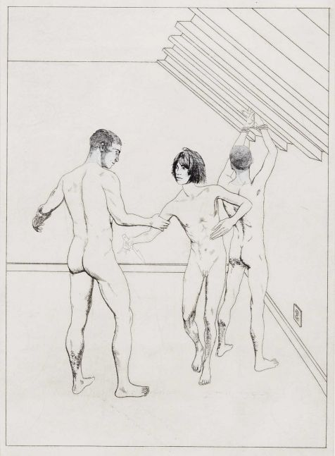 Hardy Hill, 3 Figures in Triangle (1 with knife, 2 without), 2020