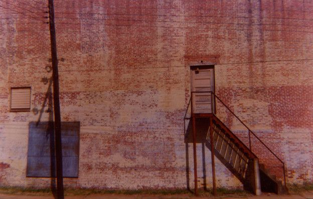 Wall of Abandoned Movie Theater (Distant View, Marion, Alabama), 1976