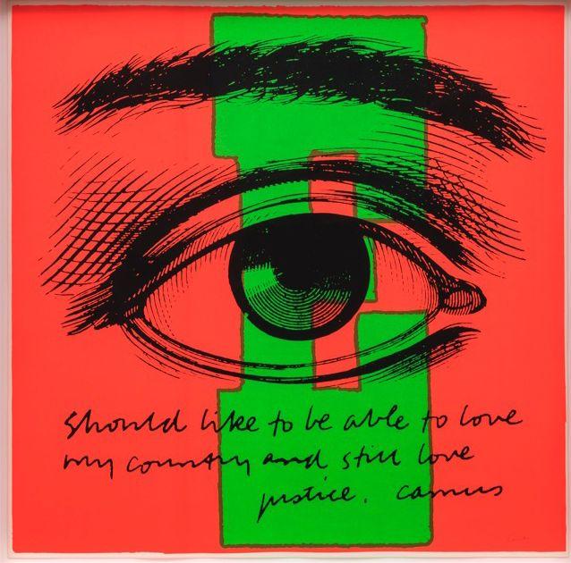Corita Kent, E eye love, 1968
