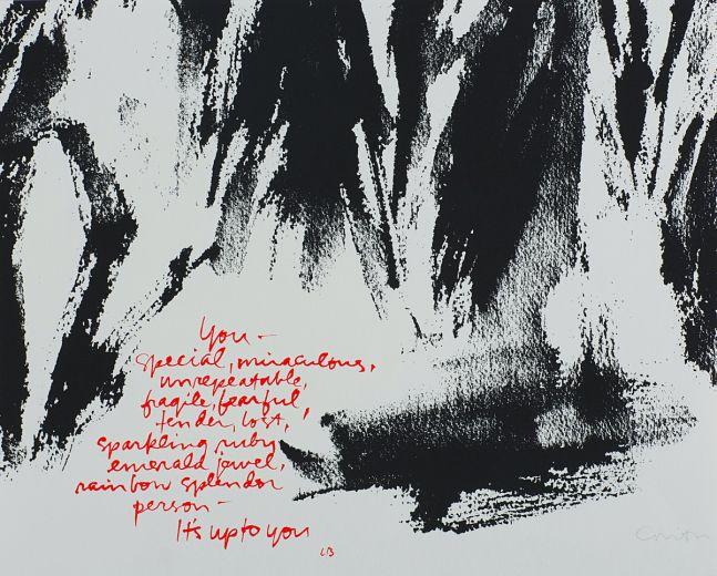 Corita Kent, It's Up To You, 1981