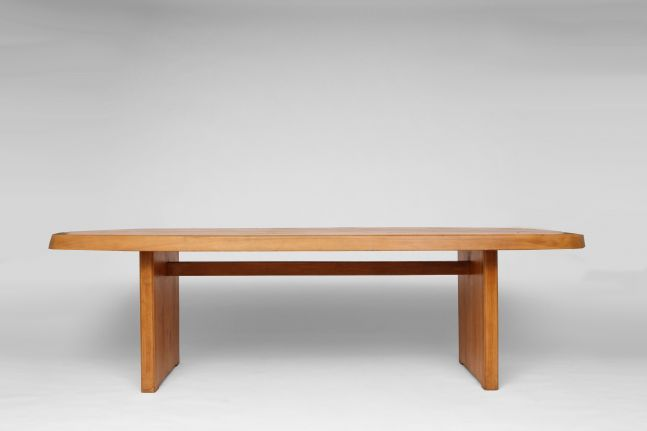 "Pierre Chapo - ""T20A"" dining table, c. 1972"