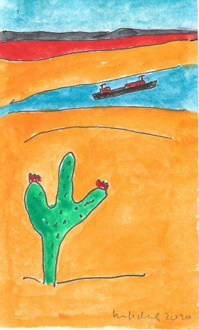 Image of Cactus & Boat
