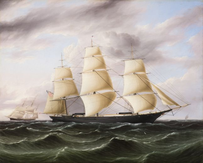 James E. Buttersworth (1819–1894), Clipper Ship Black Warrior, c. 1853, oil on canvas, 29 x 36 in., signed lower right: J. E. Buttersworth