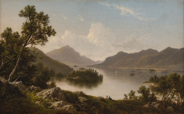 David Johnson (1827–1908) Lake George, c. 1875. Oil on canvas. 10 x 16 in. Signed lower left: DJ