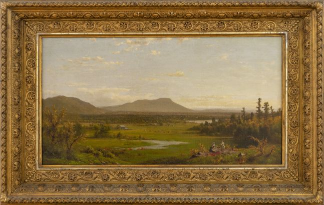 Richard William Hubbard (1816–1888), Landscape, 1870, oil on canvas, 13 1/2 x 24 in., signed and dated lower left: R. W. Hubbard 1870 (framed)
