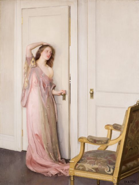 William Paxton (1869–1941), The Other Door, 1917, oil on canvas, 40 1/8 x 30 1/2 in.,  signed lower right: PAXTON