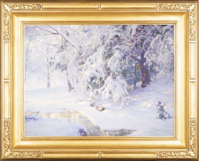 Walter Launt Palmer (1854-1932)  Winter Sunrise, 1913. Oil on canvas, 24 x 32 in. Signed lower left: W. L. Palmer (framed)