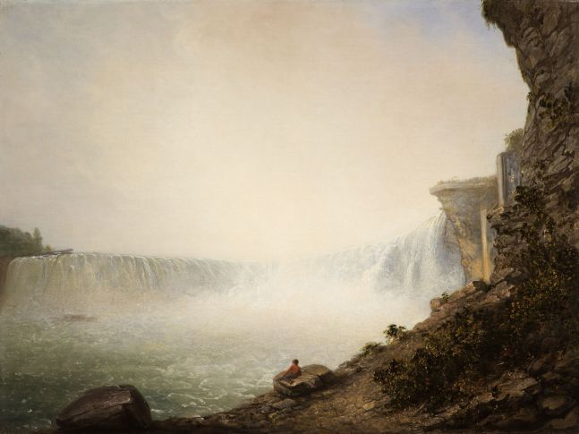 Rembrandt Peale (1778–1860), Niagara Falls from the Canadian Side, Table Rock, 1831, oil on canvas, 18 1/4 x 24 1/4 in.