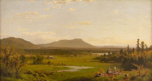 Richard William Hubbard (1816–1888) Landscape, 1870, oil on canvas, 13 1/2 x 24 in., signed and dated lower left: R. W. Hubbard 1870