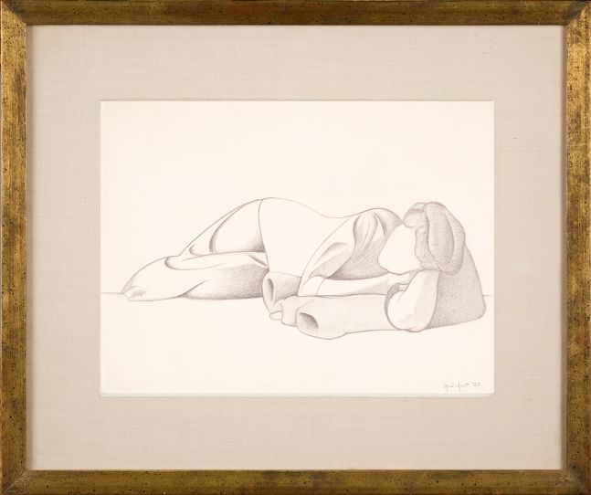 George C. Ault (1891–1948),  Reclining Figure, 1923, pencil on paper, 8 7/8 x 11 7/8 in., signed and dated lower right: George C. Ault '23 Inscribed in pencil on verso: 135 –  (framed)