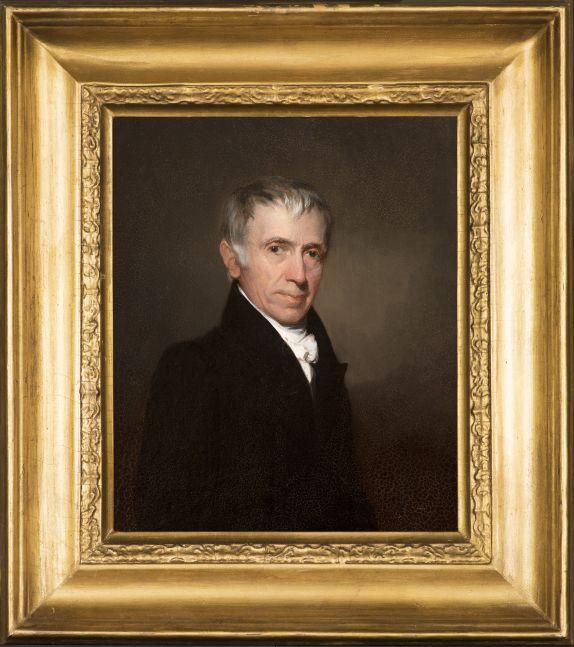 Samuel F. B. Morse (1791–1872), Dr. Thomas Fuller, 1829, oil on board, 11 x 9 in., inscribed on verso: Ӕtat. 64. / Septr. 1829 (framed)