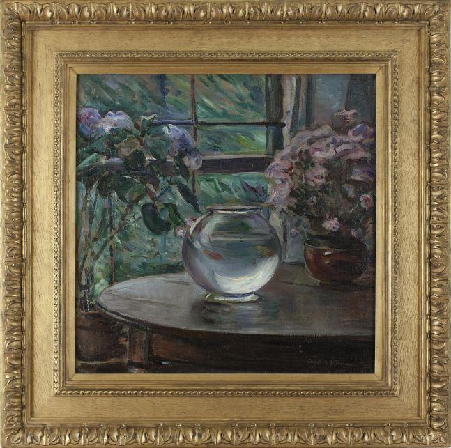 Elizabeth Nourse (1859–1938), Etude, Fleurs, 1911, oil on canvas, 26 x 26 in., signed lower right: Elizabeth Nourse (framed)