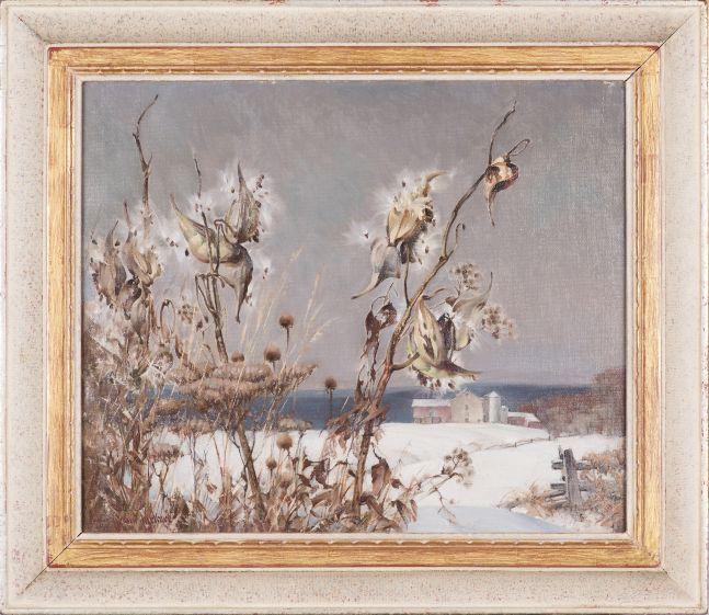 Arthur Meltzer (1893–1989), Milkweed in Winter, c. 1930, oil on canvas, 20 x 24 in., signed lower left: Arthur Meltzer (framed)