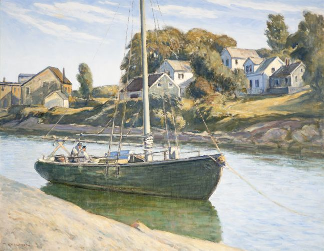 Clarence K. Chatterton (1880–1973), Inlet at Ogunquit, Maine, c. 1925, oil on canvas, 28 x 36 in., signed lower left: C.K. Chatterton
