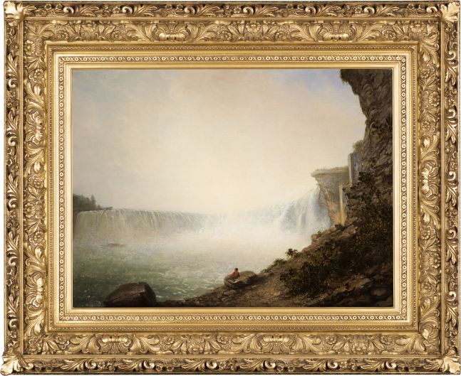 Rembrandt Peale (1778–1860), Niagara Falls from the Canadian Side, Table Rock, 1831, oil on canvas, 18 1/4 x 24 1/4 in. (framed)