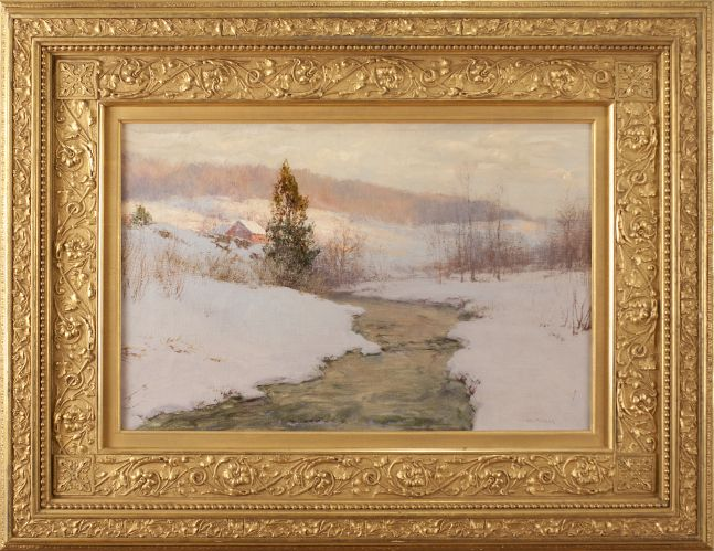 Walter Launt Palmer (1854–1932), An Upland Stream, 1904, oil on canvas, 16 x 24 in., signed lower right: W. L. Palmer (framed)