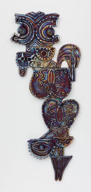 Julia Kunin  Double Portrait, 2018  ceramic wall piece  64 x 30 x 3 inches  $21,000