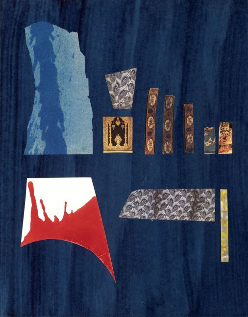 Dorothy Hood Abstract, c. 1980-90s collage on mat paper: 20 x 16 inches frame: 26 1/2 x 22 5/8 x 1 1/2 inches