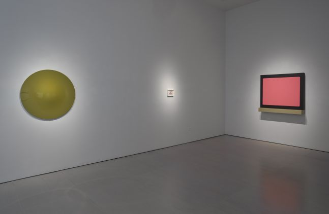 Installation view of Definition; view of Vincent Szarek, Ted Stamm, and Sylvie Fleury