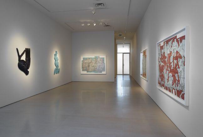 Installation view of Bo Joseph | Feeding the Beast at McClain Gallery, September 2020